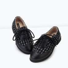 Spring Autumn New Modal Comfortable Genuine Cow Leather England Style Lace-up Casual Shoes for Children