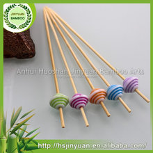 Top grade cocktail party fruit picks skewers sticks with colorful balls wholesale