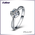Hot Sales Fashion Jewelry 925 Sterling Silver Rose Flower Design Rings