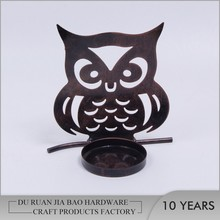 2017 Hot sale sweet owl design candler holder for home decoration