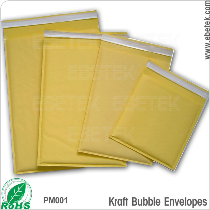 secure and convenient Self-seal closure kraft paper bubble envelopes