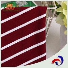 Hot selling rayon nylon spandex yarn dye jersey knit striped tr fabric for composition