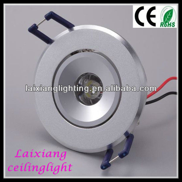 high powerFixed 1w LED recessed down light/lighting fixture