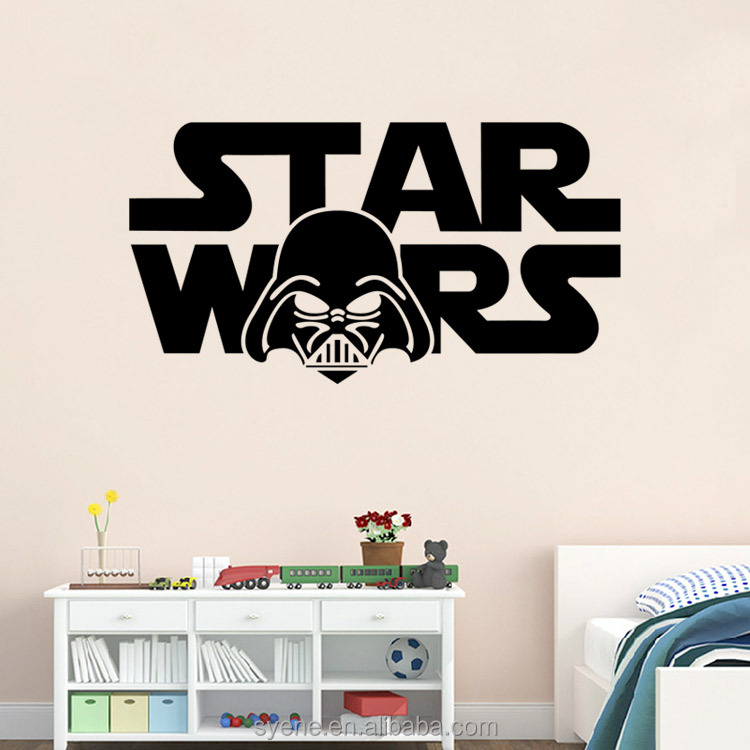 syene star stickers war decal 3d room decor wallpaper removable art vinyl movie character wall stickers decal home decor