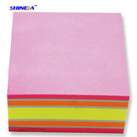 Cube Paper note block/Self-Adhesive smart memo block/customized design sticky note