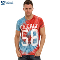 wholesale 100% cotton short sleeves men tie dye ink shirts short sleeves tshirt custom logo printed