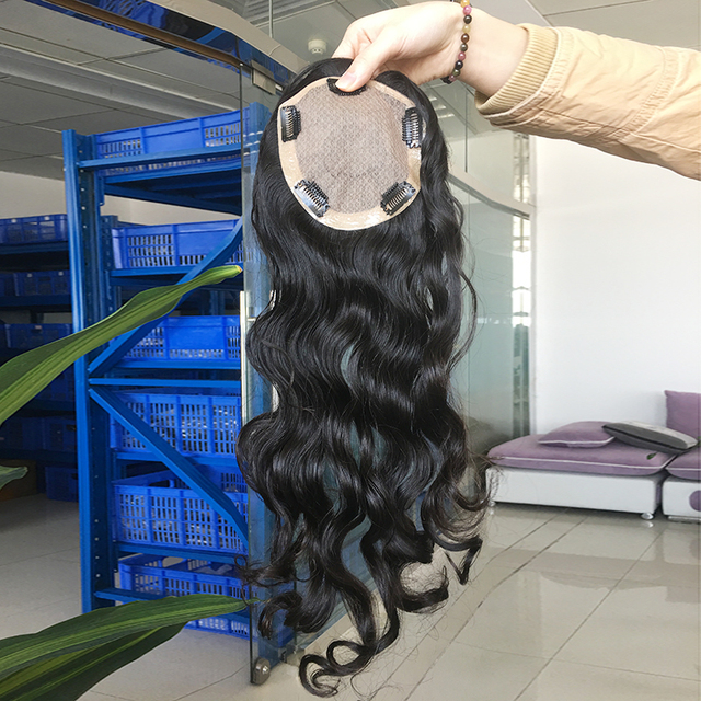 white color silk base Indian hair pieces replacement cheap toupee for black women human hair prosthesis