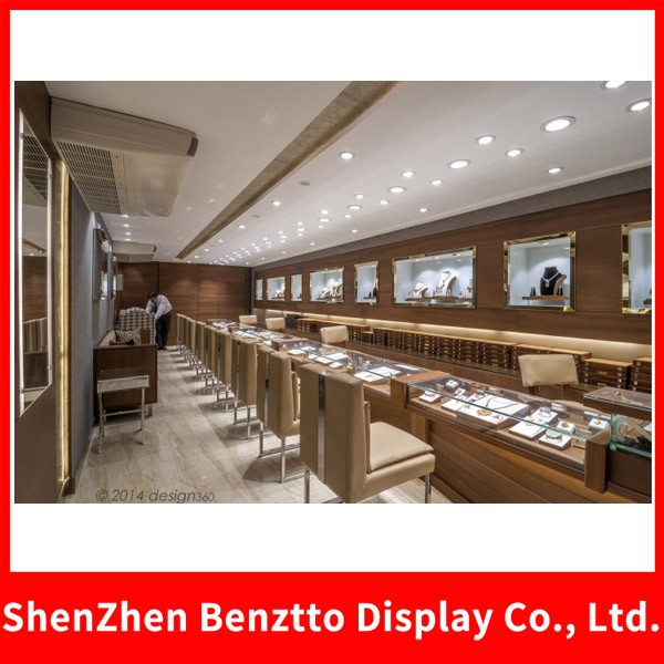 Used Wooden Glass Jewelry Store Furniture Showcases For Interior Design