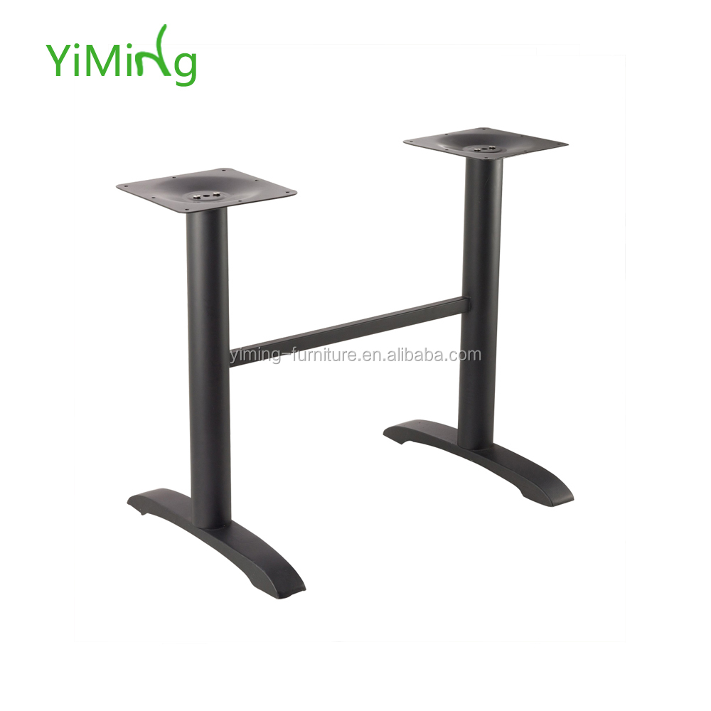Black cast iron table base for wholesale