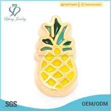 New zinc alloy pineapple fruit floating locket charms jewelry