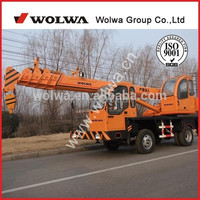 GNQY-z6 Homemade chassis 6 tons telescopic boom truck mounted crane for sale