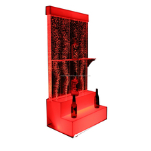 big discount bottle bubble display water wall wine display stair wine cabinet