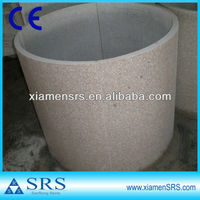 G681 Granite covering round hollow columns