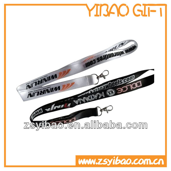 Cheap Custom High Quality Polyester Or Nylon Silkscreen Printing Logo Lanyard