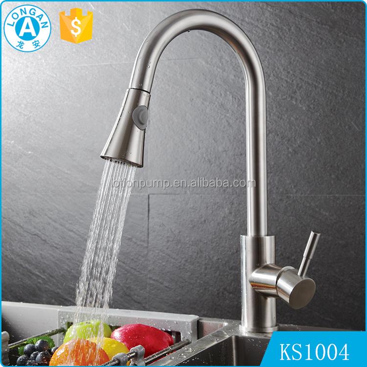 Wholesale high quality Thermostatic pull out kitchen sink stainless steel modern faucet