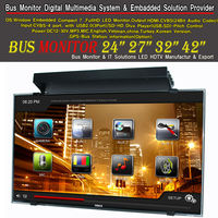 32 inch 27inch 24 inch 40 inch Bus Monitor-Digital Multimedia HD Divx player Control Full HD LED