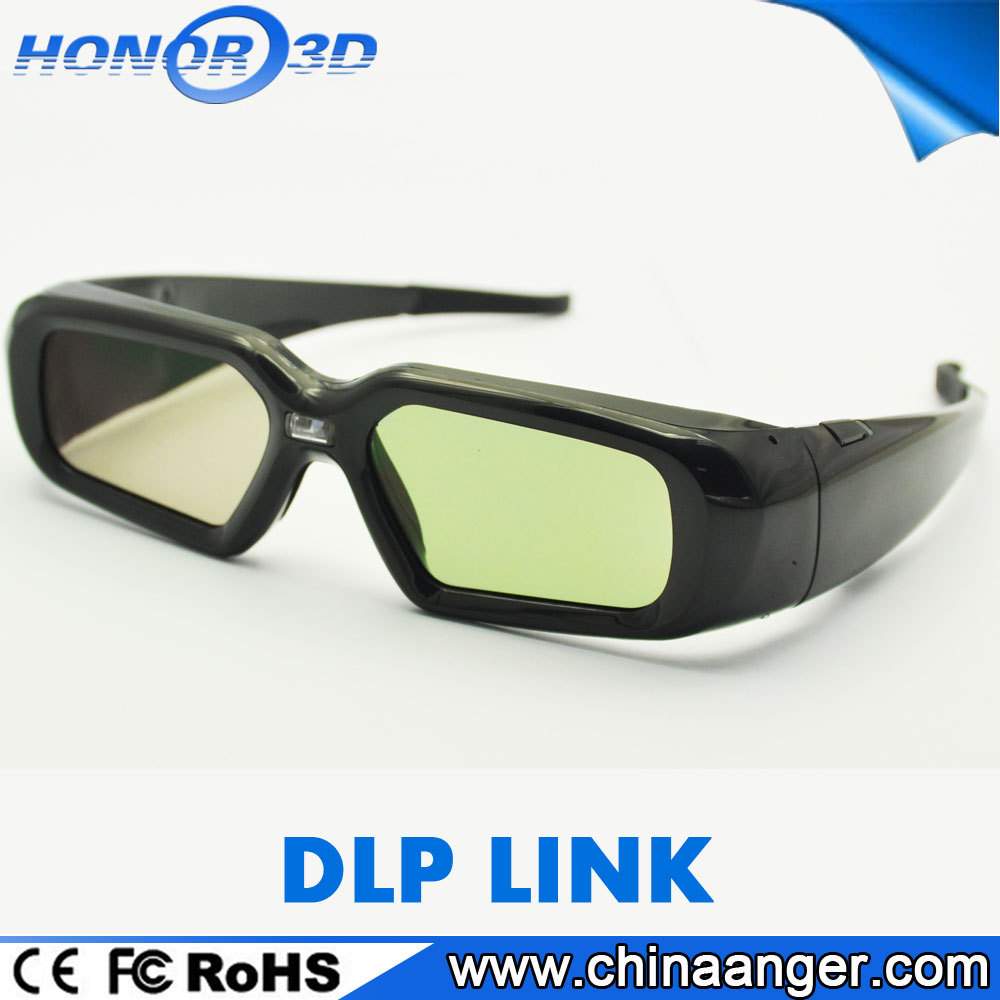 Universal Rechargeable Active Shutter 3D Glasses for DLP Link 3D glasses Projector