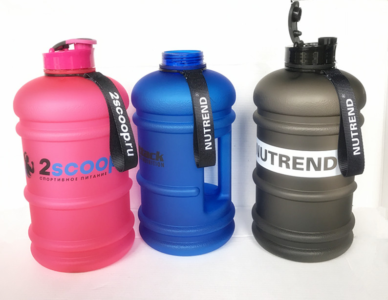 BPA free 2.2L plastic portable water bottle jug sports bottle