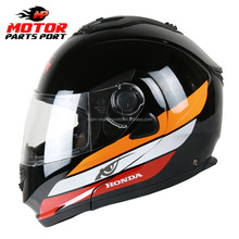 Dual visor dot ece Flip up Motorcycle helmet for honda motorcycle