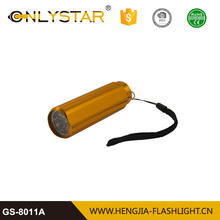 Aluminum anodized approved by CE& RoHs new style LED torch with batteries