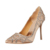 Gorgeous High Heel Women's Pumps With Hot Fix Italy Fashionable Nude Color Shoes