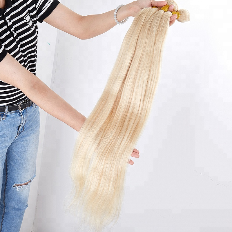 bundle straight hair blonde 613 raw indian temple remy hair <strong>weave</strong>