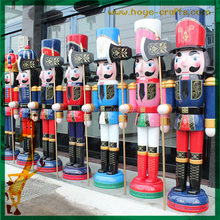 wooden crafts christmas decoration life size nutcracker