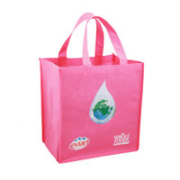 Reusable silk screnn printing non woven bag shopping bag