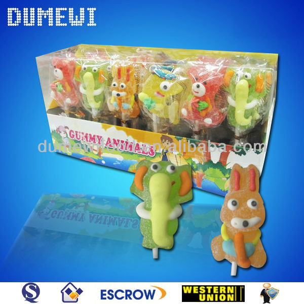 Animal Shaped Jelly Pop Candy