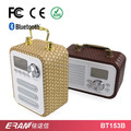 2017 Leather cover wireless bluetooth speaker support TF /FM /USB Disk Music Play