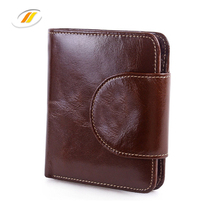 Small Women's Genuine Leather Wallet With Zipper Pocket