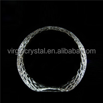 Optic Crystal Glass Blank Circle Iceberg Business Award