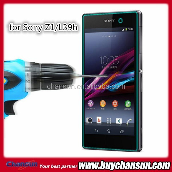 Anti scratch tempered glass screen guard for Sony Z1