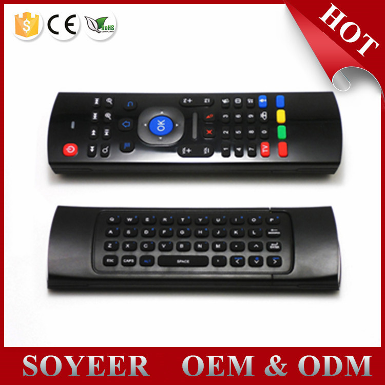 MX3 2.4G Portable Mini Wireless Qwerty Keyboard Mouse Multifunctional Infrared Remote Control for for Android Smart TV Box G Box