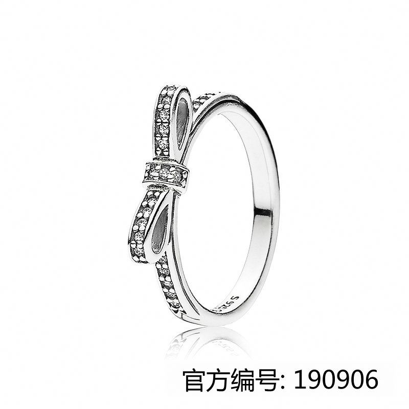 XINHUI 2017 hot bowknot ring fit pandoras china factory wholesale 1:1 925 sterling silver ring