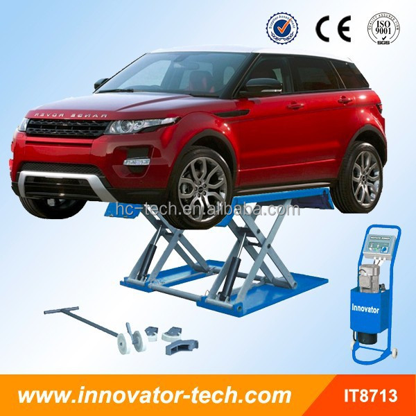 Tire service mid rise mobile mini tilting car lift