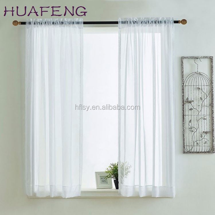 Huafeng polyester brown and white stripe organza curtain,sheer curtain