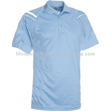 Short sleeve striped jersey cotton polyester polo shirts OEM