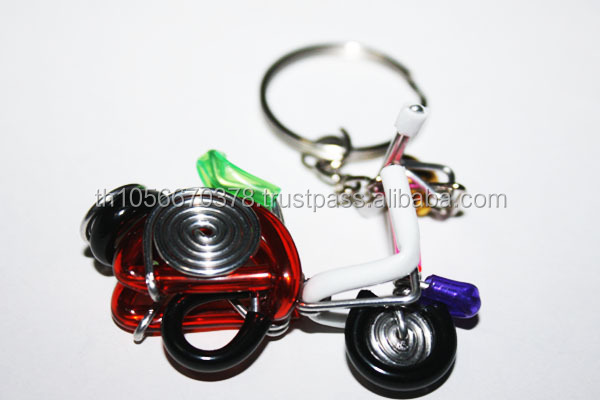 Wire Art Handmade keyring motorcycle vespa - Made in Thailand