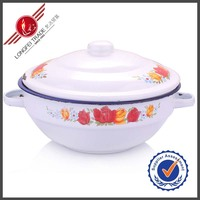 Yiwu Kitchen Ware 20CM Enamel Insulated Casserole Hot Pot