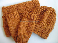 New design Wholesale Winter Warm Kids Knitted Hat Glove and Scarf Set