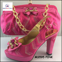 MS594 PINK Quality luxury italian designer shoes and bags to match