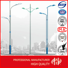 12M Polygonal Double Arms Car Parking Light Poles with High Quality