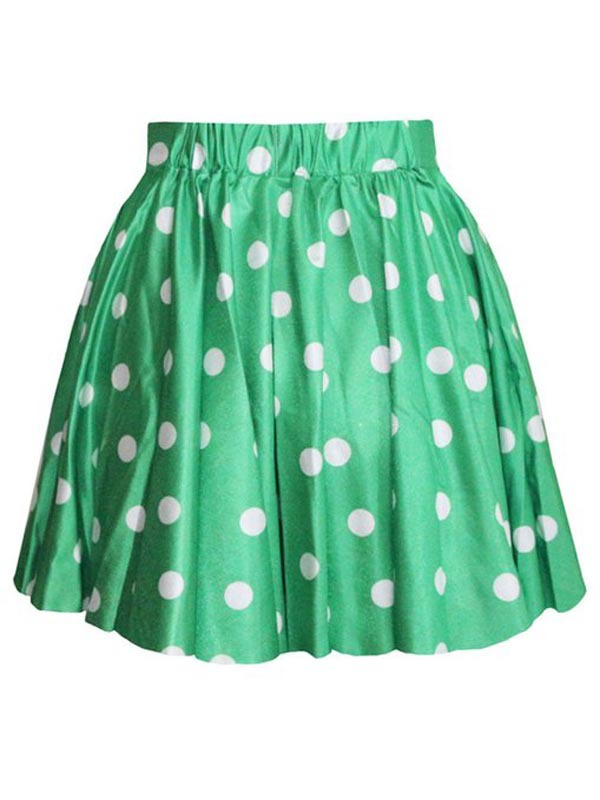 Women's short skirt polka dot pattern comfort pictures of mature women short skirt