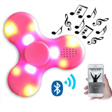 Tri-Spinner Music Bluetooth Wireless Mini Speakers LED Hand Spinner Anti Stress EDC Rotation for Kids Adult Funny Fidget <strong>Toy</strong>