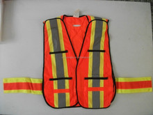 stadium guard Mesh fabric High visibility reflective vest with pockets and belts