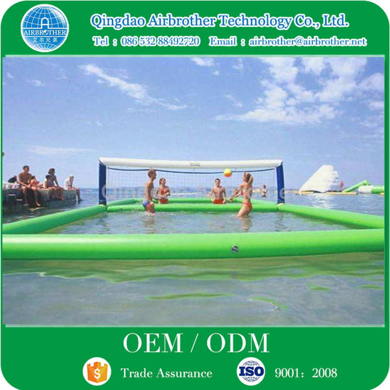 Durable PVC Tarpaulin Inflatable Floating Water Volleyball Court for Sale