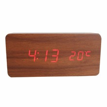 Wholesale Led Ce Time Display Turn Make Unique Wood Clock