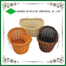 Specialized bike basket for dog wicker pet bike basket