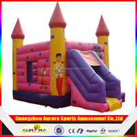 Giant pvc inflatable princess bouncer/inflatable jumping bouncy castle